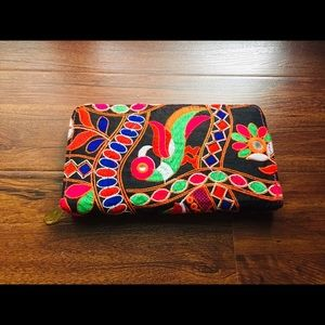 NEW Boho Multi Color Wallet Large